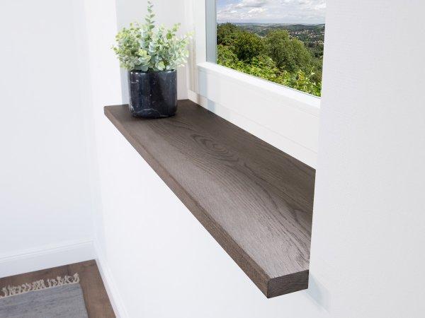 Fensterbank Eiche Silber für Innen im schönen modernem Look
