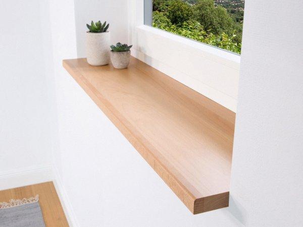 Fensterbank Buche im schönen natürlichem Look für Innen