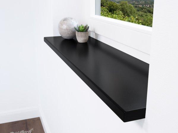 Fensterbank Buche in Schwarz für den Innenbereich